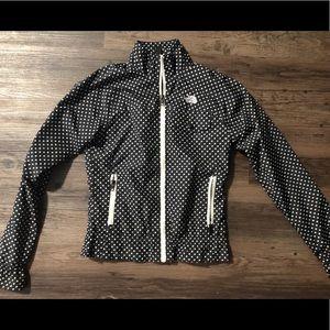 The north face polka dot rain jacket